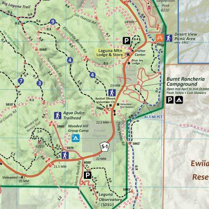 Mt Laguna Trail Map Sample